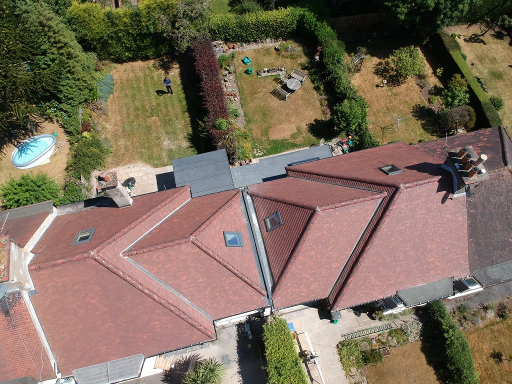 Roof finishes- aerial view
