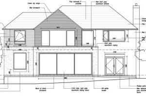 Proposed rear facade